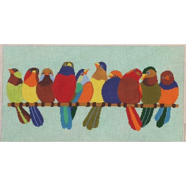 Birds on a Wire Needlepoint Canvas-Needlepoint Canvas-A Stitch in Time-KC Needlepoint