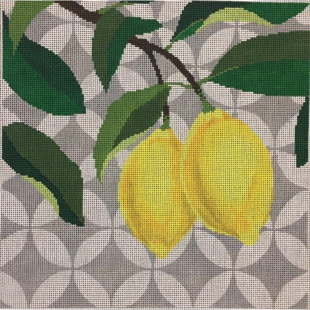 Lemons Needlepoint Canvas - needlepoint