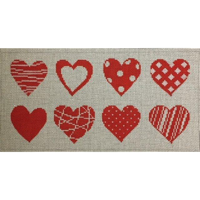 Eight Hearts Needlepoint Canvas