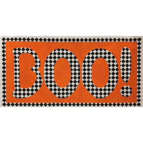 Boo Diamonds Needlepoint Canvas