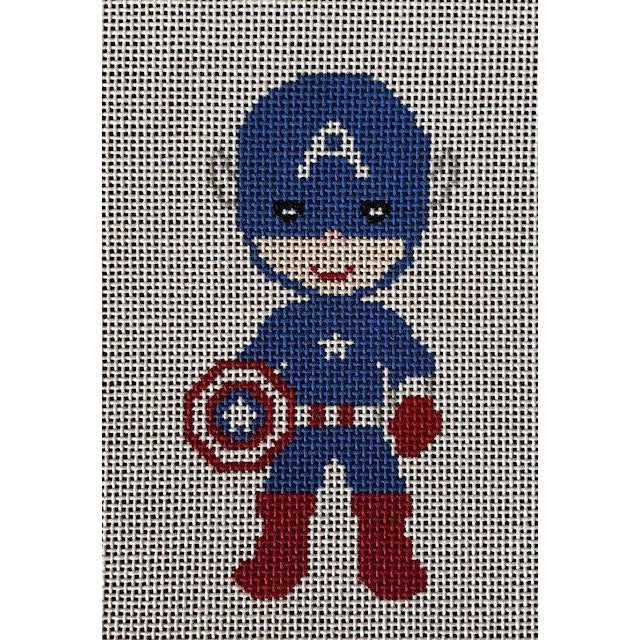 Captain America Needlepoint Canvas