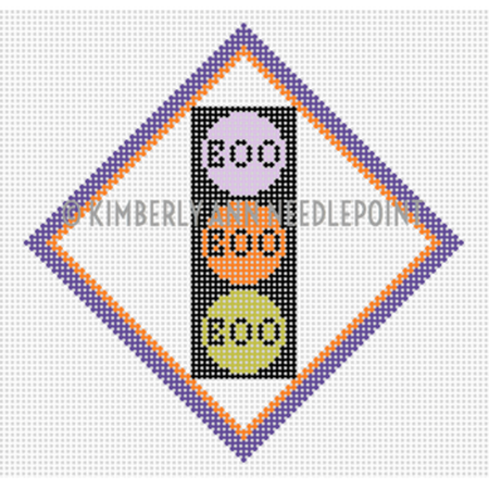 Boo, Boo, Boo Lights Canvas - KC Needlepoint