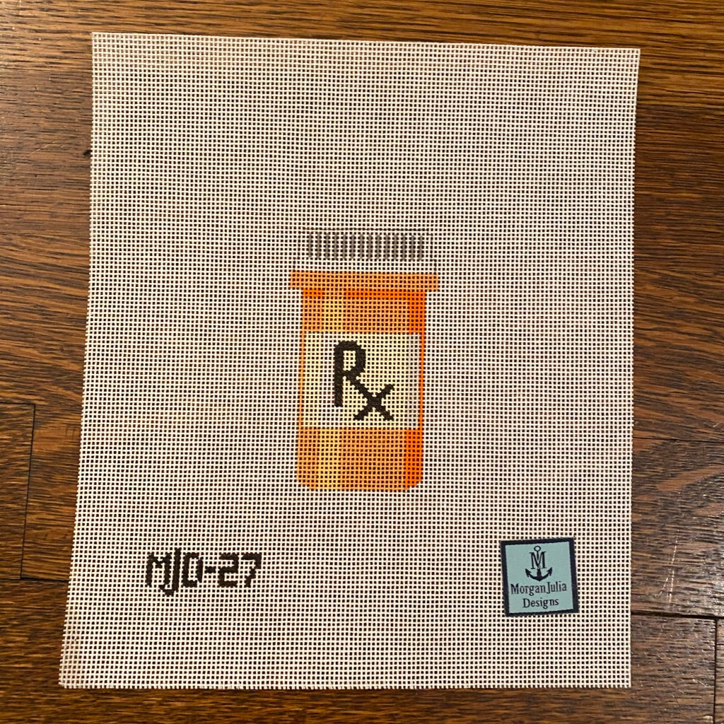 Rx Bottle Canvas - needlepoint