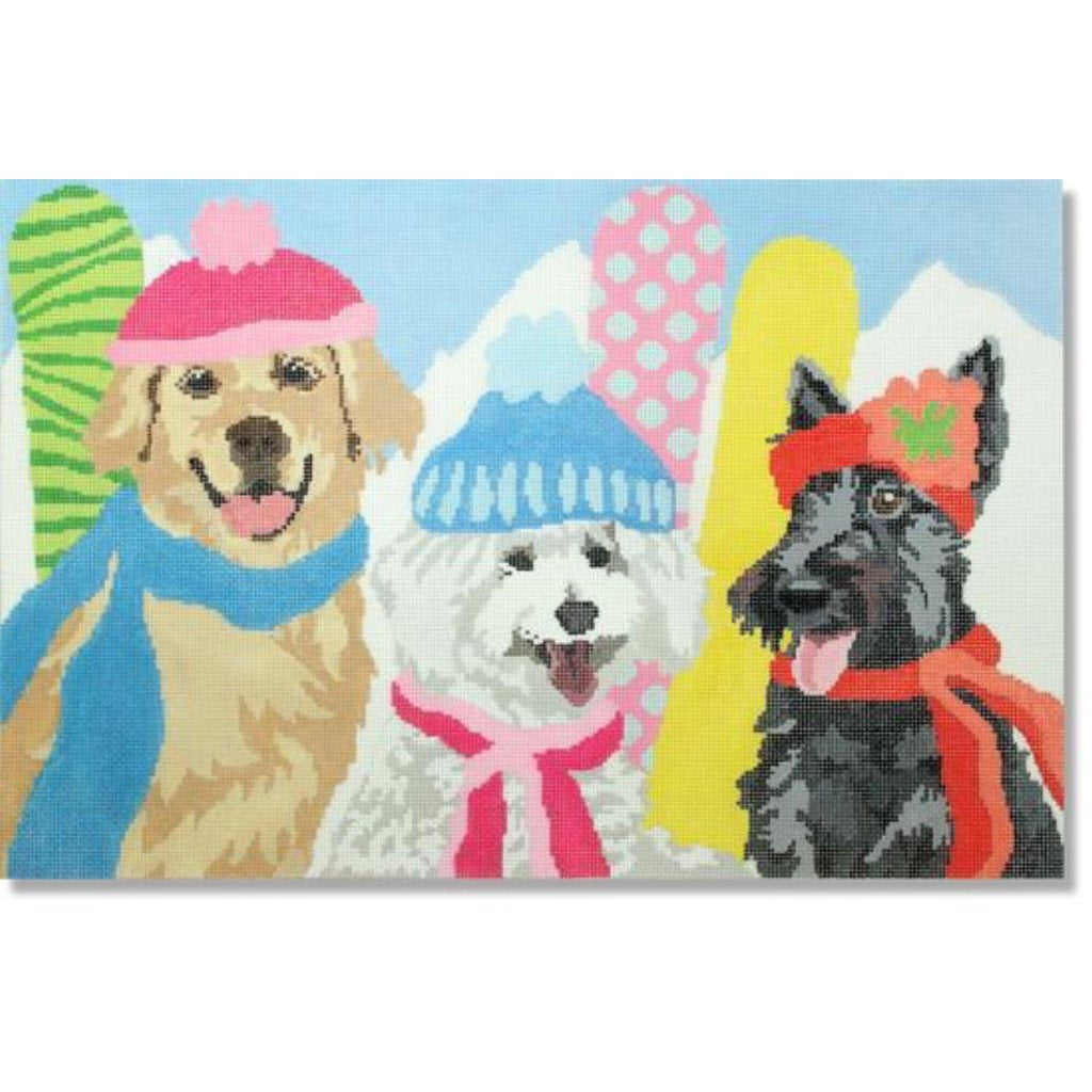 Snow Belles Canvas - needlepoint