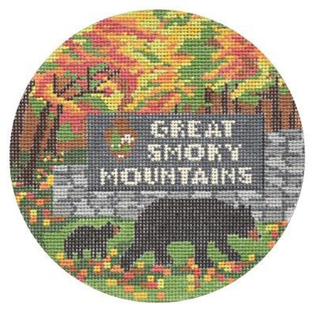 Great Smoky Mountains Travel Needlepoint Canvas - KC Needlepoint