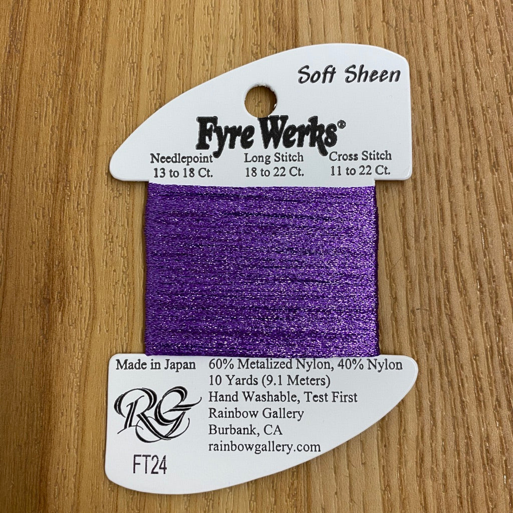 Fyre Werks Soft Sheen FT24 Purple - needlepoint