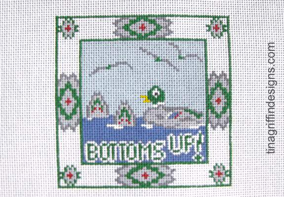 Bottoms Up! Canvas - needlepoint