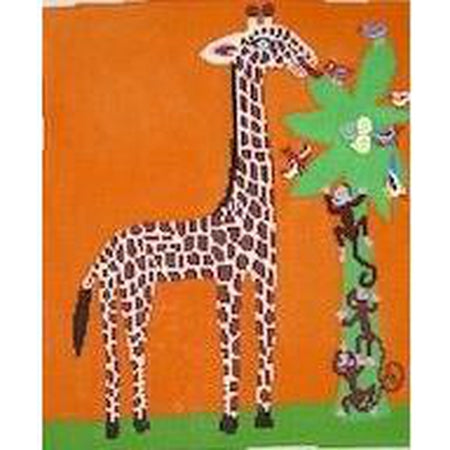 Giraffe Canvas-Needlepoint Canvas-Birds of a Feather-13 Mesh-KC Needlepoint