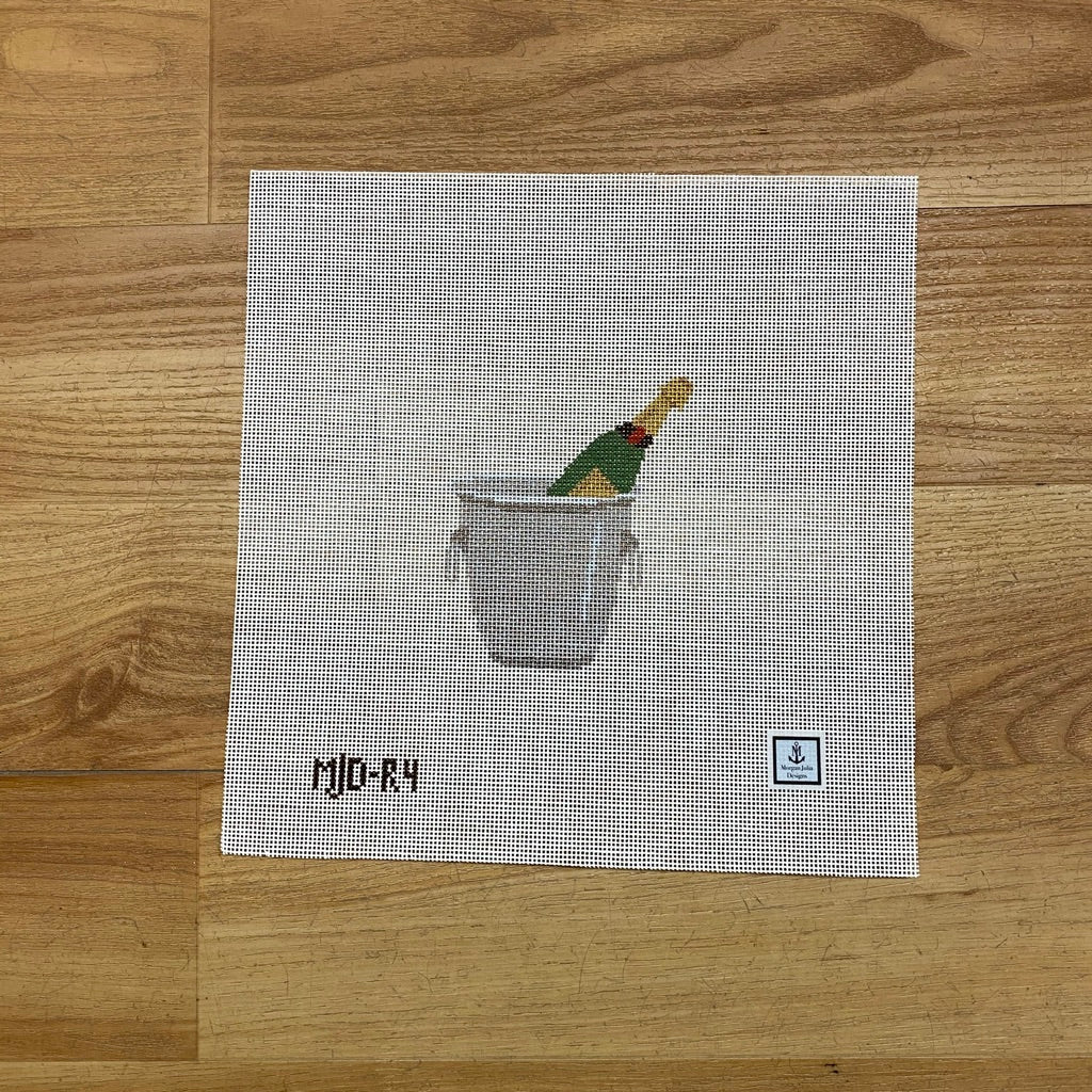 Champagne Bucket Canvas-Needlepoint Canvas-KC Needlepoint