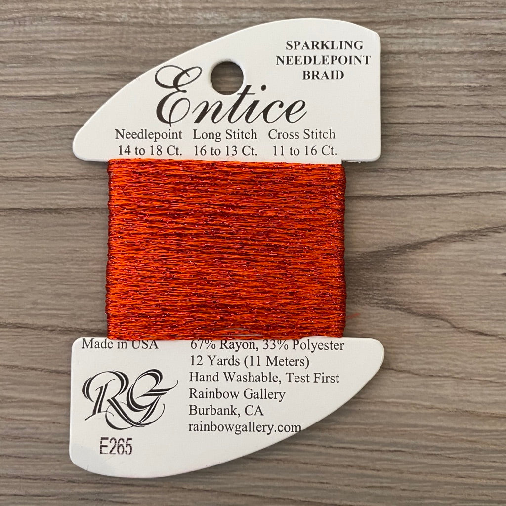 Entice E265 Flame - KC Needlepoint