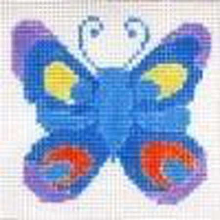 Lapis Butterfly Coaster Canvas - needlepoint