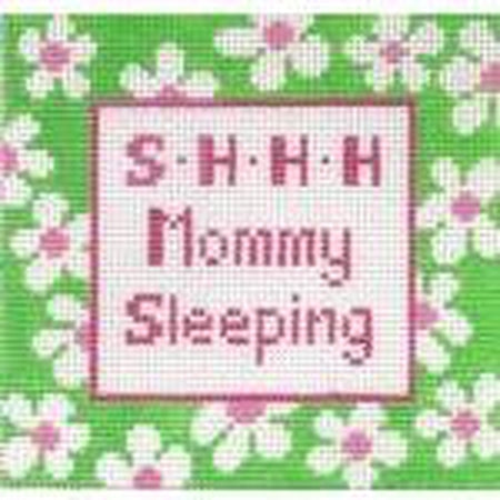 Shhh Mommy Sleeping Sign-Needlepoint Canvas-Stitch-Its-13 mesh-KC Needlepoint