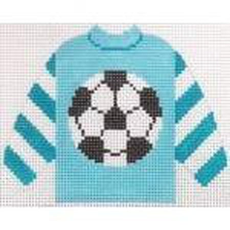 Soccer Pullover Sweater Needlepoint Canvas - needlepoint