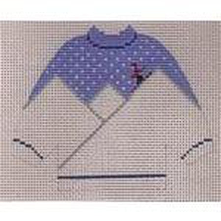 Skiing Pullover Sweater Needlepoint Canvas - needlepoint
