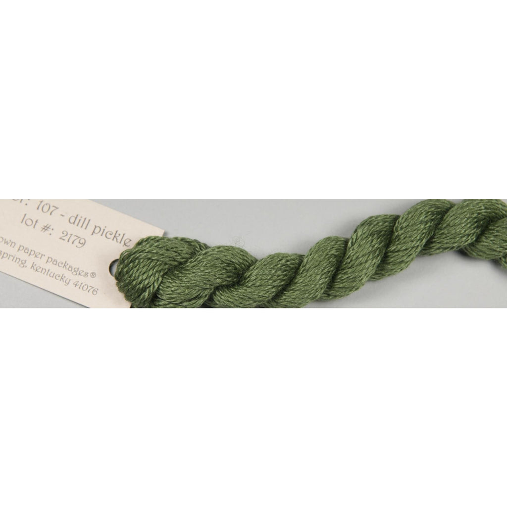 Silk & Ivory 107 Dill Pickle - needlepoint