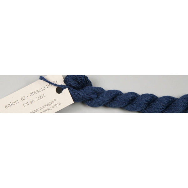 Silk & Ivory 10 Classic Navy - needlepoint