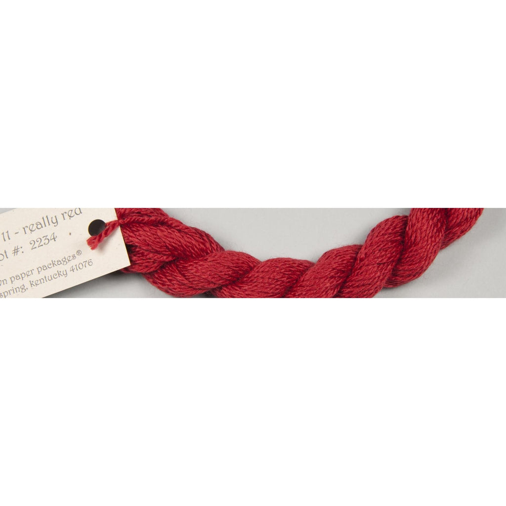 Silk & Ivory 11 Really Red - needlepoint