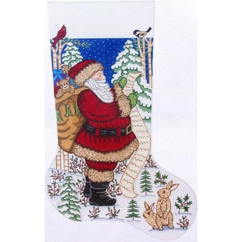 Alexa Christmas Stocking 7288-Needlepoint Canvas-Alexa Needlepoint Designs-KC Needlepoint
