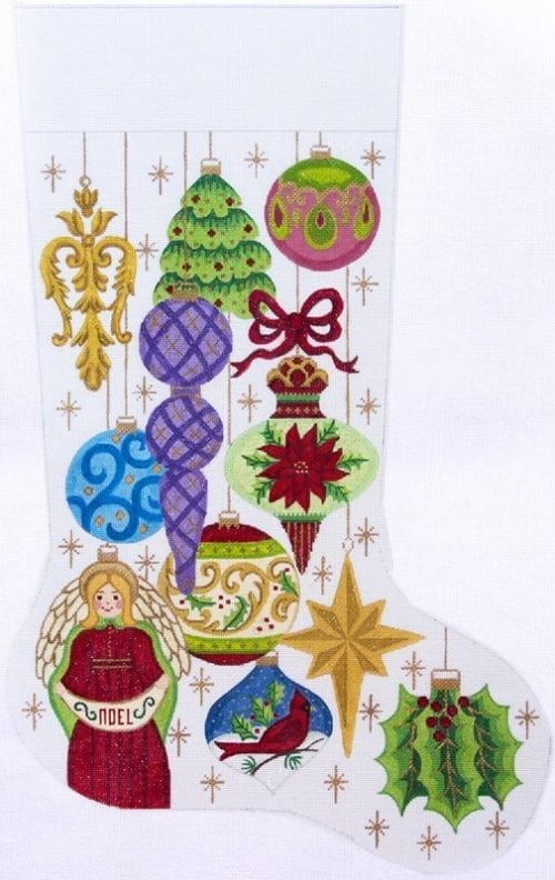 Alexa Christmas Stocking 7289-Needlepoint Canvas-Alexa Needlepoint Designs-KC Needlepoint