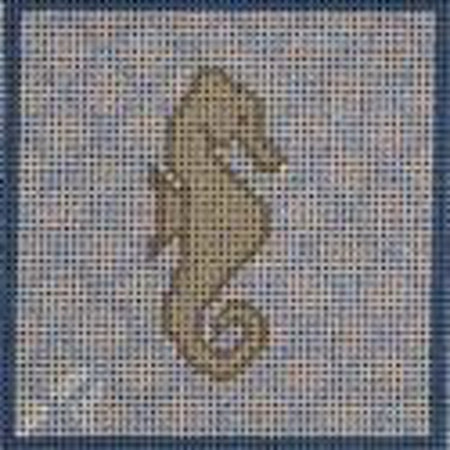 Seahorse Square Canvas - needlepoint