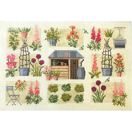 Chelsea Cutting Garden Canvas-Needlepoint Canvas-Kirk & Bradley-KC Needlepoint