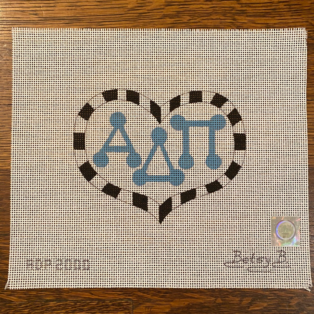Alpha Delta Pi Large Heart Canvas