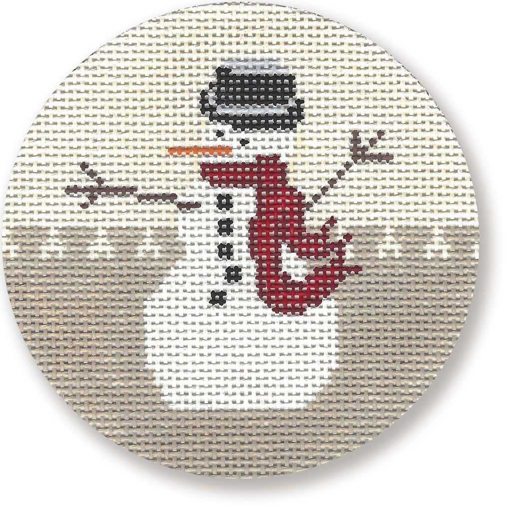 Snowman Canvas - needlepoint