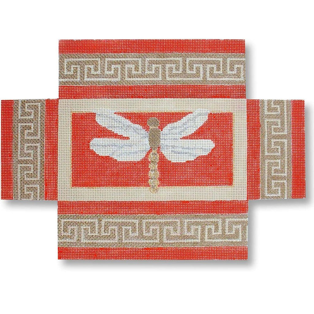 Dragonfly Brick Canvas - KC Needlepoint