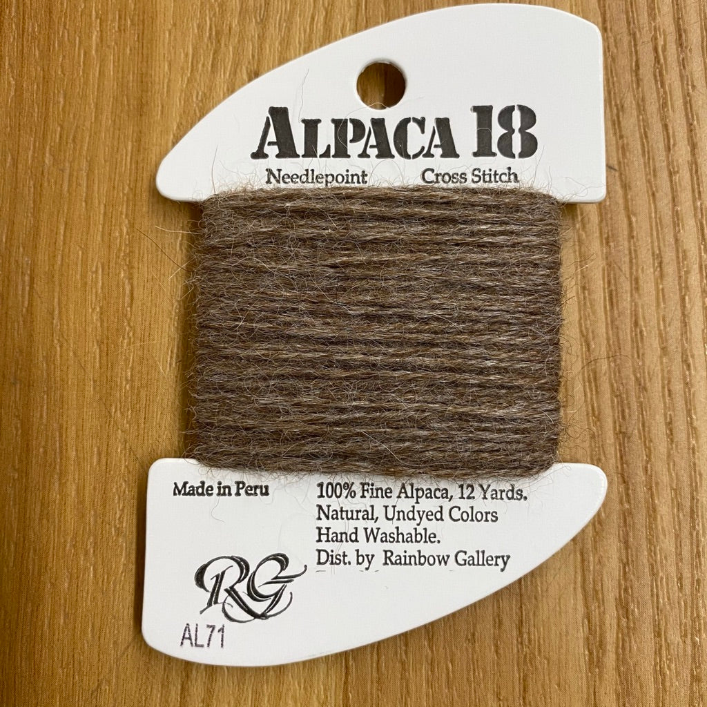 Alpaca 18 AL71 Dark Taupe - KC Needlepoint