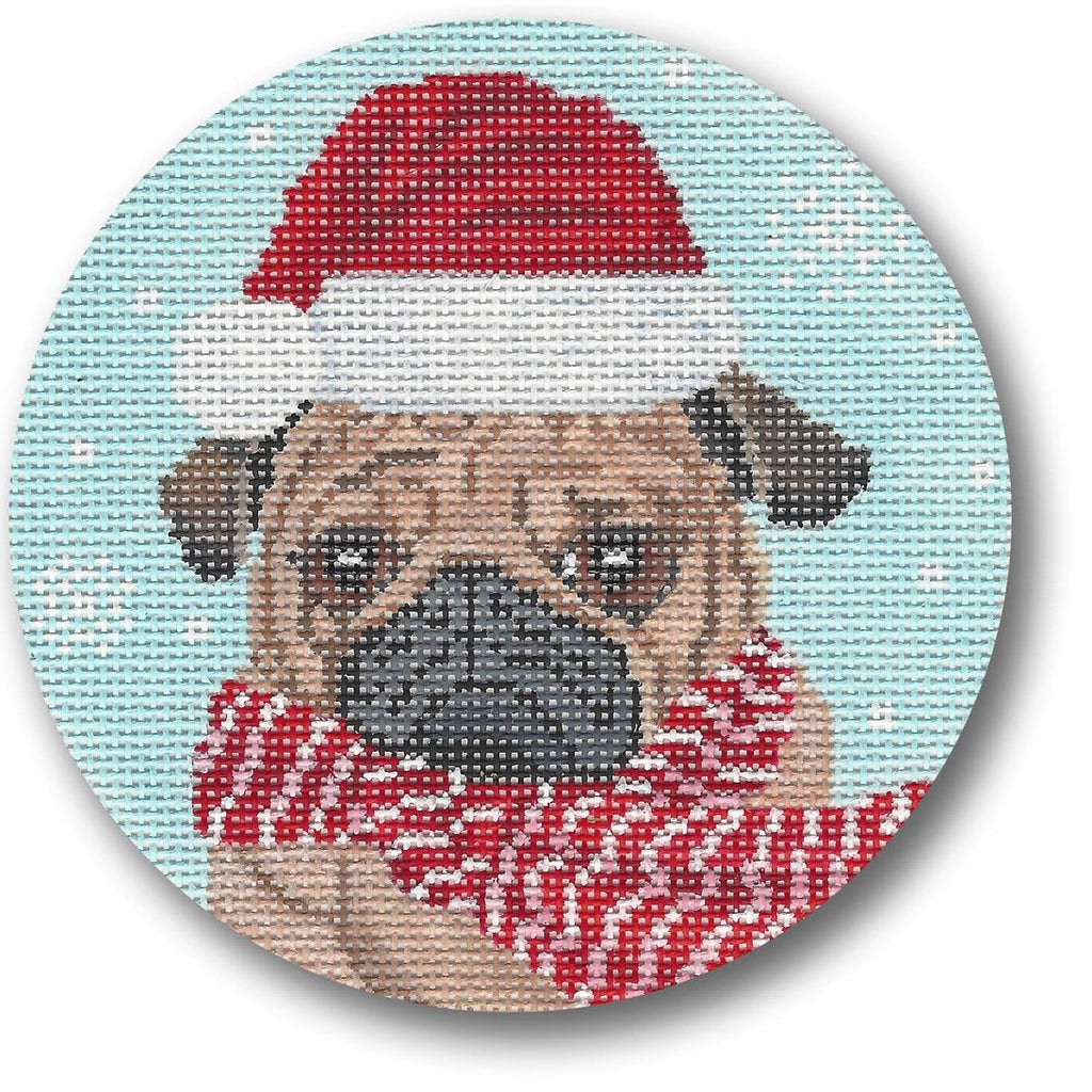 Dog with Scarf Canvas-Needlepoint Canvas-CBK Needlepoint-KC Needlepoint