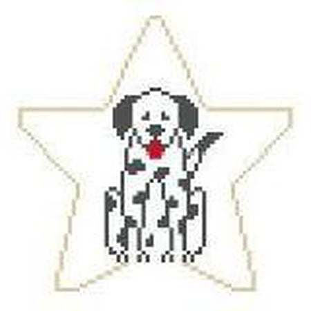 Dalmatian Star Canvas-Needlepoint Canvas-Kathy Schenkel-KC Needlepoint