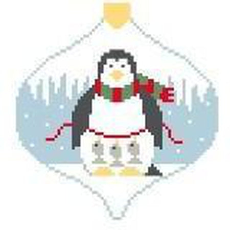 Fisher Penguin Bauble Canvas - needlepoint