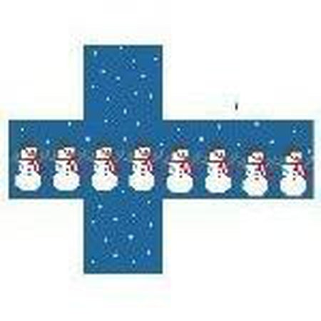 Snowmen Package Cube Canvas-Needlepoint Canvas-Kathy Schenkel-KC Needlepoint