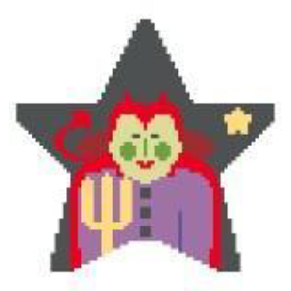 Devil Star Canvas - needlepoint
