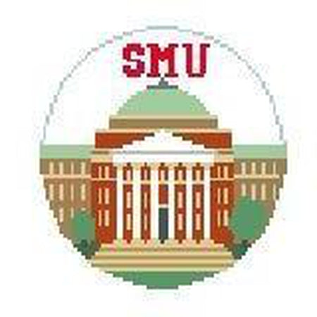 SMU Rotunda Round Canvas-Needlepoint Canvas-Kathy Schenkel-18 Mesh-KC Needlepoint