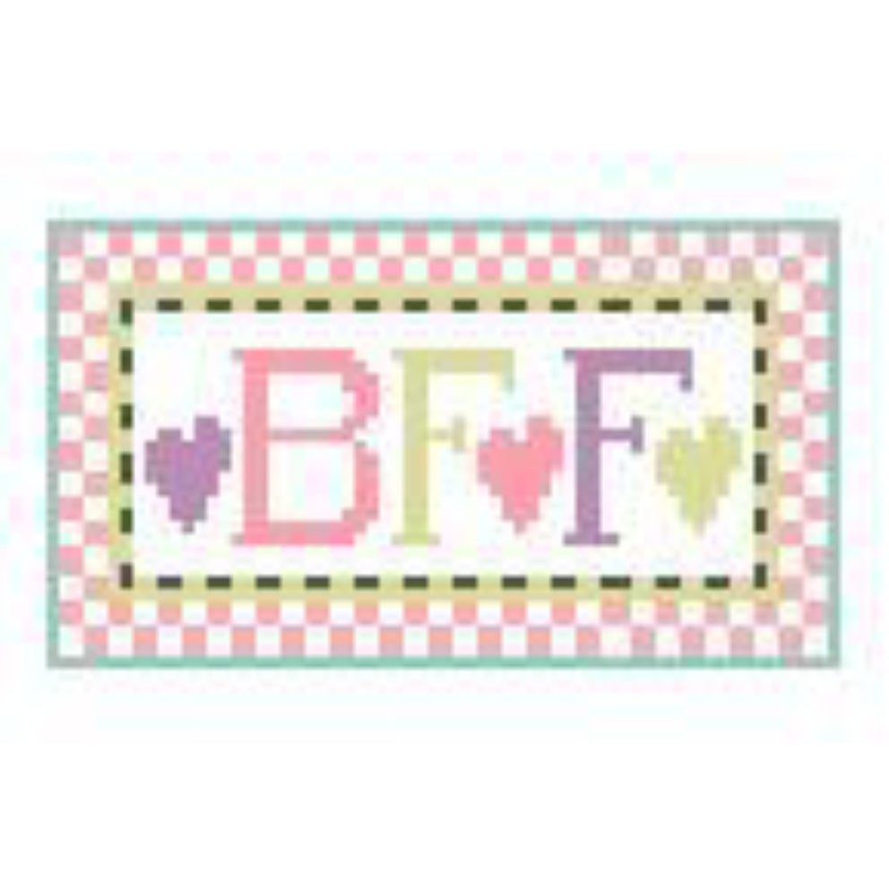 BFF Tiny Inspiration Canvas-Needlepoint Canvas-Kathy Schenkel-18 Mesh-KC Needlepoint
