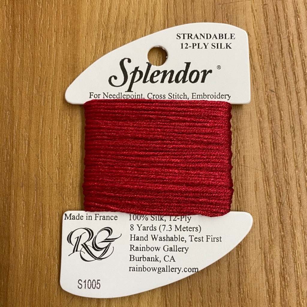 Splendor S1005 Cranberry - KC Needlepoint