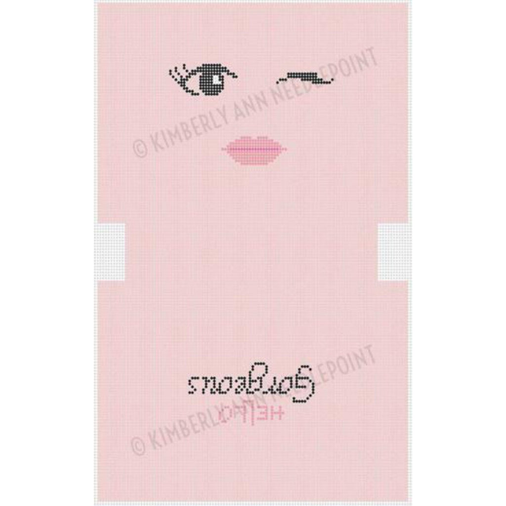 Hello Gorgeous Pink Canvas - needlepoint