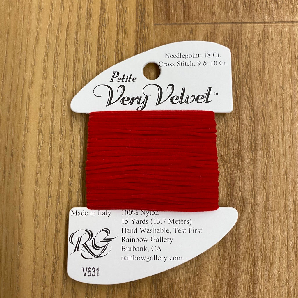 Petite Very Velvet V631 Christmas Red - KC Needlepoint