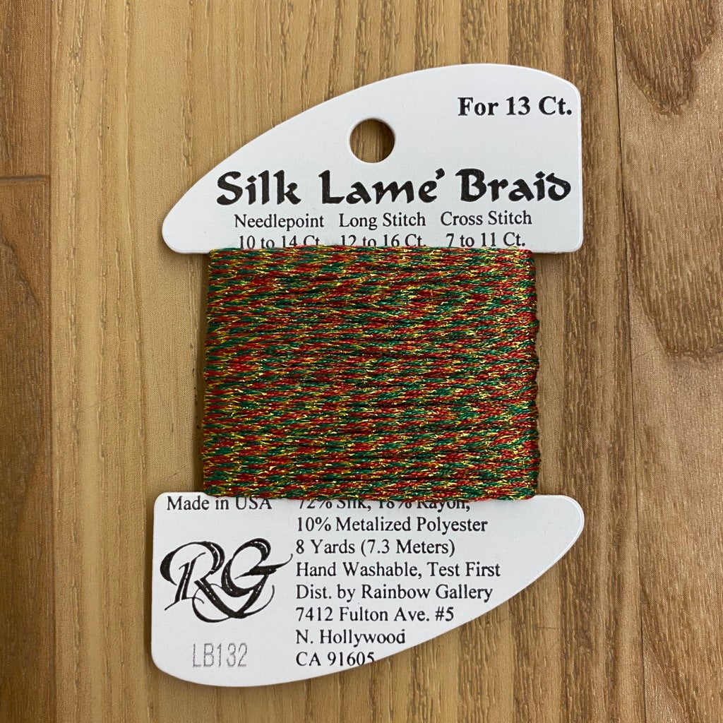 Silk Lamé Braid LB132 Christmas