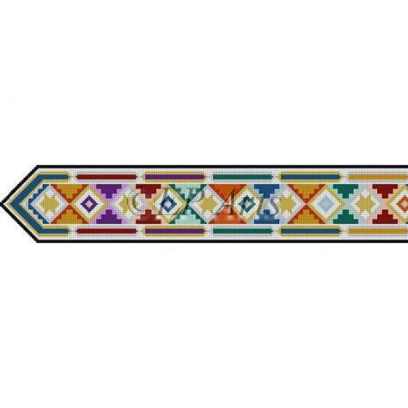 David, earth tone tile, atarah - needlepoint
