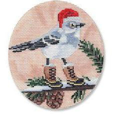 Mockingbird with Boots Canvas - needlepoint
