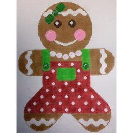 Gingerbread Girl Canvas - needlepoint