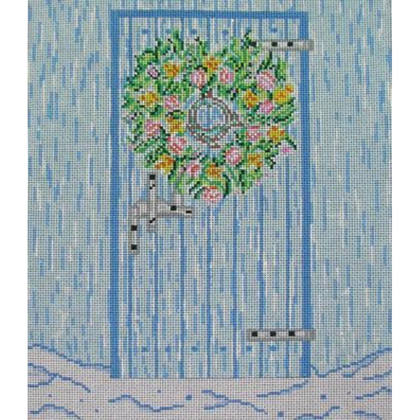 Whale Door Needlepoint Canvas - needlepoint