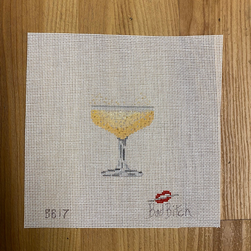 Champagne Glass Canvas-Needlepoint Canvas-KC Needlepoint