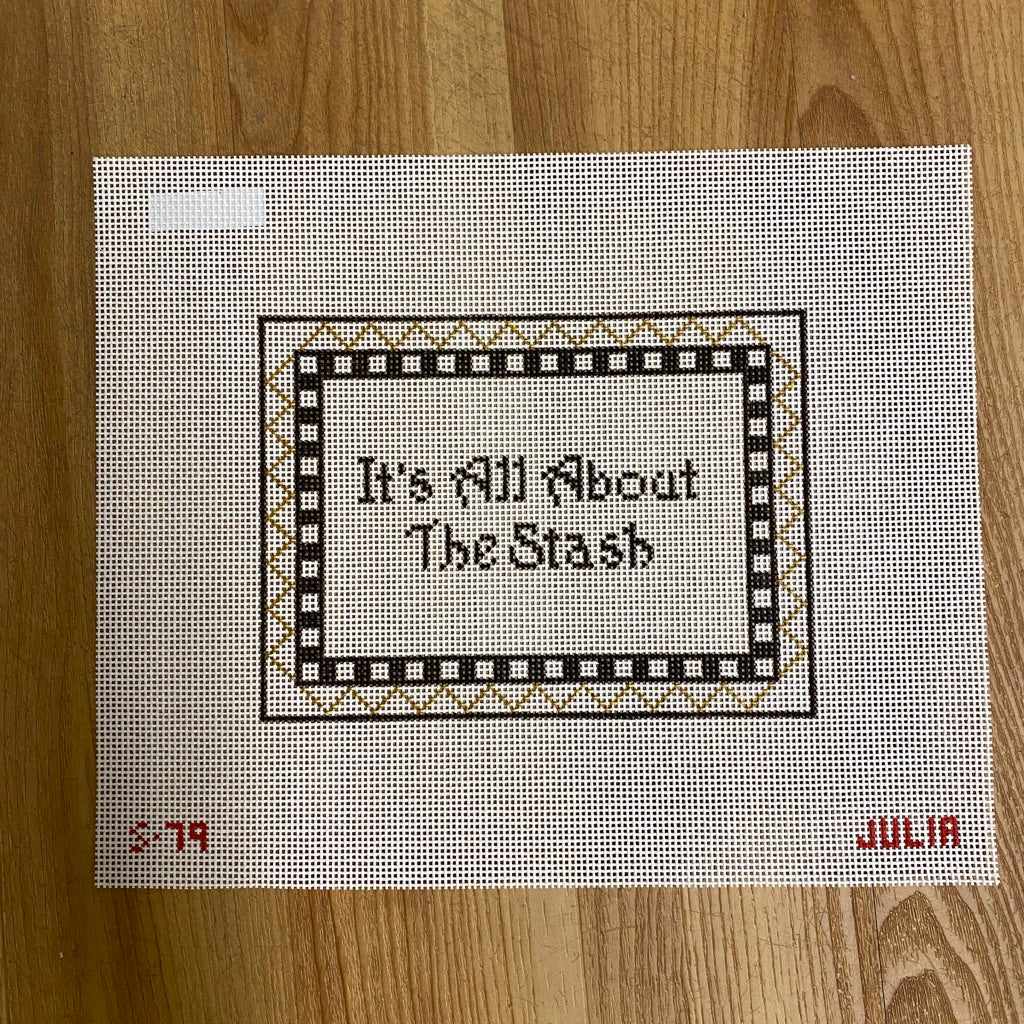 It's All About the Stash Canvas - KC Needlepoint