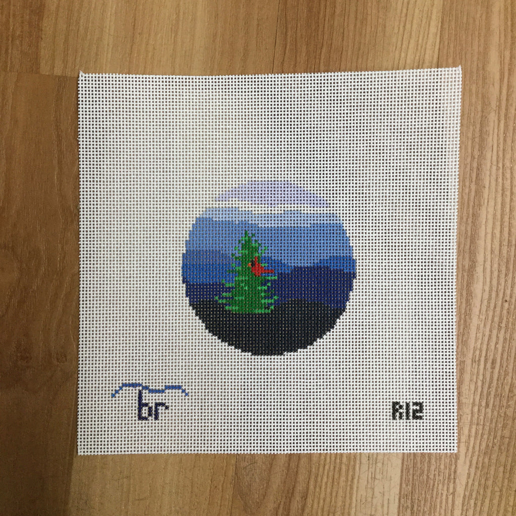 Blue Ridge Cardinal Canvas - needlepoint