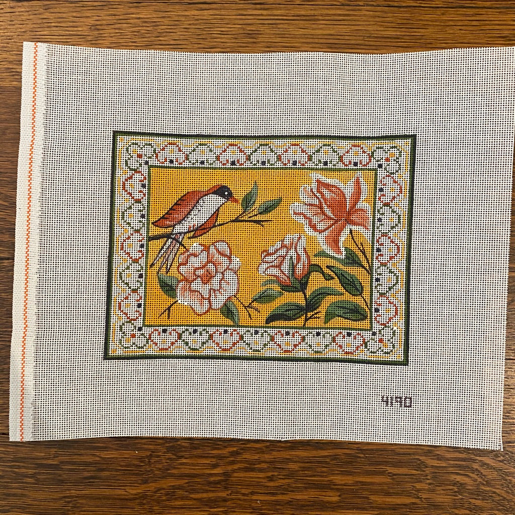 Finch and Flower Mah Jongg Canvas-Needlepoint Canvas-KC Needlepoint