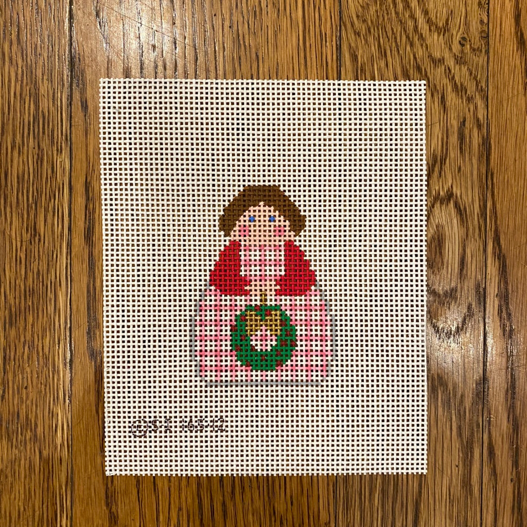 December Angel Needlepoint Canvas - needlepoint
