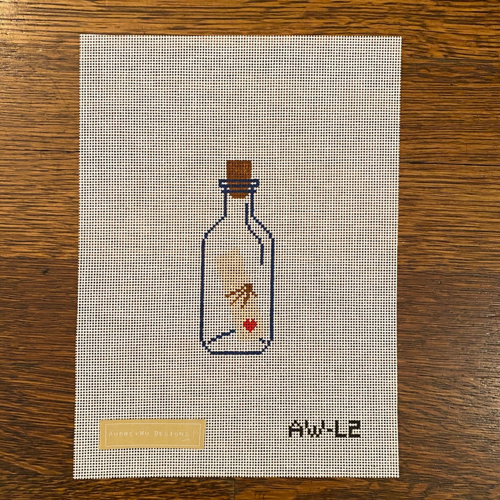Love Letter in a Bottle Canvas-Needlepoint Canvas-KC Needlepoint